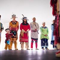 [ Slideshow ] Ganandogan Dance & Music Festival Native American dancers participate in a traditional dance at the Ganondagan festival in Victor, NY. PHOTO BY MATT BURKHARTT