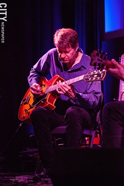 Nels Cline at the Little Theatre. - PHOTO BY JOHN SCHLIA
