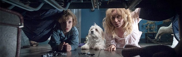 "Noah Wiseman and Essie Davis in ""The Babadook."""