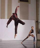 PHOTO BY STEVE LABUZETTA - Norwood Pennewell and Keisha Clarke dancing DANCECOLLAGEFORROMIE.
