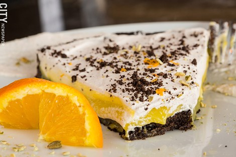 Orange chocolate tart - PHOTO BY JOHN SCHLIA