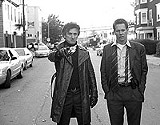 "WARNER BROS PICTURES - Parallel investigators: Sean Penn and Kevin Bacon in ""Mystic River."""