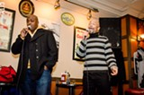 PHOTO BY MARK CHAMBERLIN - Patrons at Temple Bar & Grill perform at the venue's Thursday karaoke night.