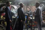 """PHOTO COURTESY UNIVERSAL PICTURES - Paul - Walker, Vin Diesel, and Kurt Russell in """"Furious 7."""""""