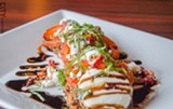PHOTO BY MARK CHAMBERLIN - Paula's Eggplant Caprese from Angus House & Lounge in Penfield.