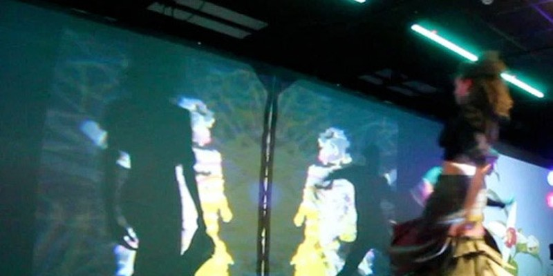 """DANCE: """"Kinect the Dots"""" by FuturPointe Performers from local dance troupe FuturePointe are projected on to the Little screen, where improvised graphics dance across the screen. (Friday at 5 & 6 pm at Little Theatre 1. $10.) PHOTO PROVIDED"""