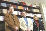 DEE KASZUBA - Peter Conners, Thom Ward, and Nora Jones (left to right) make up the spine of local poetry publisher BOA.