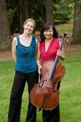 Pianist Elinor Freer and cellist Mimi Hwang will perform the five Beethoven sonatas for their respective instruments over two concerts at Nazareth College. PHOTO BY ALEX SHUKOFF