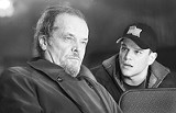 "WARNER BROS. - Playing both sides: Mobster Jack Nicholson and dirty cop Matt Damon in ""The Departed"""