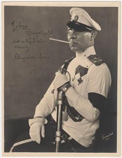 """""""Portrait of Erich von Stroheim, inscribed to Rex Ingram"""""""