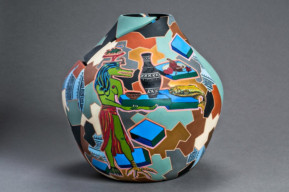 """Pottery from """"On Fire: The Nancy and Alan Cameros Collection of Southwestern Pottery,"""" currently on view at The Rockwell Museum of Western Art in Corning. - PHOTO PROVIDED"""