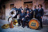 PHOTO COURTESY OF PRESERVATION HALL JAZZ BAND. - Preservation Hall Jazz Band musicians: That's Ben Jaffe, son of founder Allan Jaffe, on the far right.