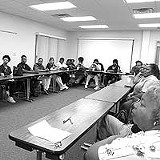 KURT BROWNELL - Representin': Church Home workers at a recent strategy meeting with 1199 SEIU Upstate.