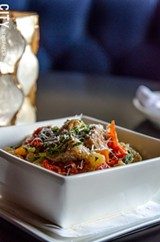 Ricotta cavatelli with braised veal osso bucco, olives, and preserved lemon from Avvino. - PHOTO BY MARK CHAMBERLIN