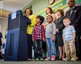 PHOTO BY MARK CHAMBERLIN - Rochester Mayor Lovely Warren announced her 3 to 3 Initiative at a press conference last week.