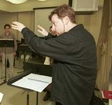 PHOTOGRAPH BY KURT BROWNELL - Rooted in, and rooting for, the musical past and present: conductor Brad Lubman.