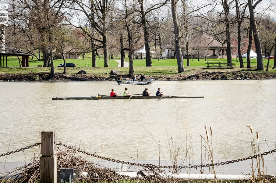 Rowers on the Genesee River. - PHOTO BY MARK CHAMBERLIN