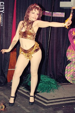 S&S performed its Mardi Gras themed show at Firehouse Saloon. - PHOTO BY FRANK DE BLASE