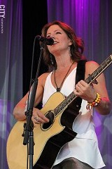 Sarah McLachlan on stage at CMAC, June 26. PHOTO BY PALOMA CAPANNA