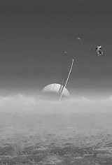 EUROPEAN SPACE AGENCY - Saturn, as seen from Titan.