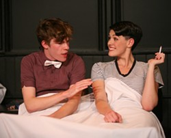 """Scene from """"The Nameless Days of Gumdrop Smith"""":  Liam Enright , Melyssa Hall. - PHOTO COURTESY ANNETTE DRAGON"""