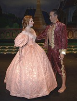 """COURTESY MERRY-GO-ROUND - Shall we dance: Eileen Ward and Ronald M. Banks in - Merry-Go-Round's """"King and I."""""""