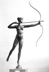 MEMORIAL ART GALLERY - She once hovered above us: Saint-Gaudens bronze Diana.