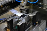 PHOTO PROVIDED - Shown above is one of the assembly machines in Rochester Institute of Technology's new Battery Prototyping Center.