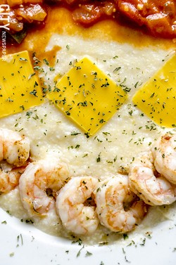 Shrimp and grits from The Artnett Cafe. - PHOTO BY MARK CHAMBERLIN