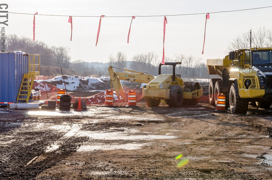 Some work has started at 75 Monroe Avenue, the site of a proposed development in the Village of Pittsford. - PHOTO BY MARK CHAMBERLIN