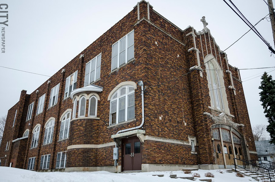 St. Bridget's Church in the Northeast section of the city is the future home of PUC Achieve Charter School. PUC plans to open nine more schools in Rochester. - PHOTO BY MARK CHAMBERLIN