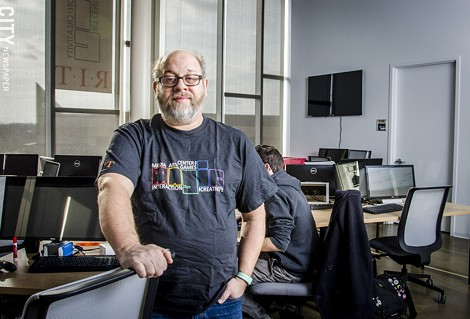 Stephen Jacobs is the associate director of RIT's MAGIC center, which works with student, faculty, and alumni to develop their video game related projects. - PHOTO BY MARK CHAMBERLIN