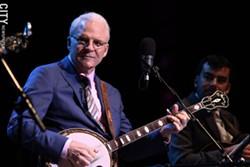 Steve Martin at the 2012 Xerox Rochester International Jazz Festival. - PHOTO BY FRANK DE BLASE