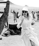 """MANDALAY PICTURES - Still a movie star, even in the desert: Angelina Jolie in """"Beyond Borders."""""""
