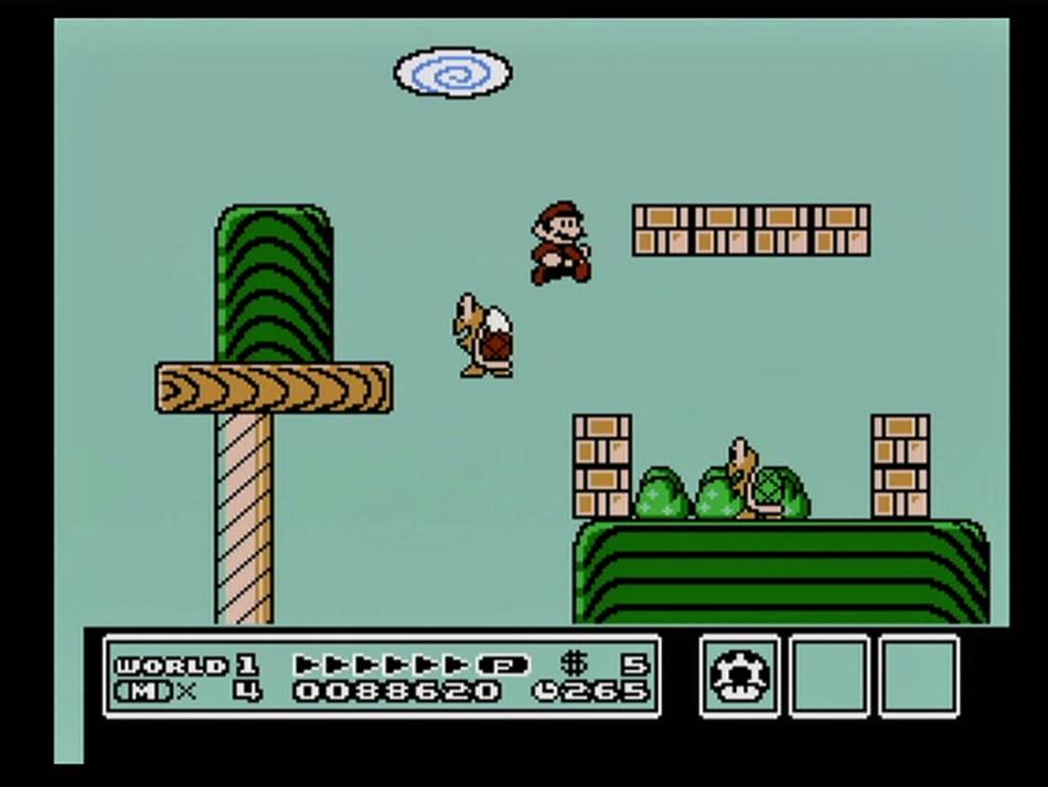 Super Mario Brothers 3, Shigeru Miyamoto, - Takashi Tezuka, Hiroshi Yamauchi, directors; Satoru - Iwata, executive producer; Konji Kondo, composer, - Nintendo Entertainment System, 1990, Nintendo of - America, Inc.