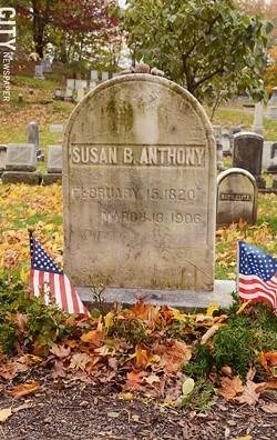 Susan B. Anthony's grave. - PHOTO BY LARISSA COE