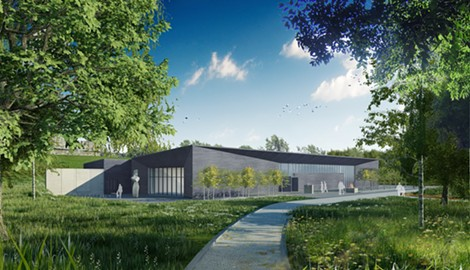 The architectural drawing for the proposed Seneca Art and Culture Center. COURTESY ARCHITECT FRANCOIS DEMENIL; Renderings PC Encore Design ©FdMArch - PHOTO PROVIDED