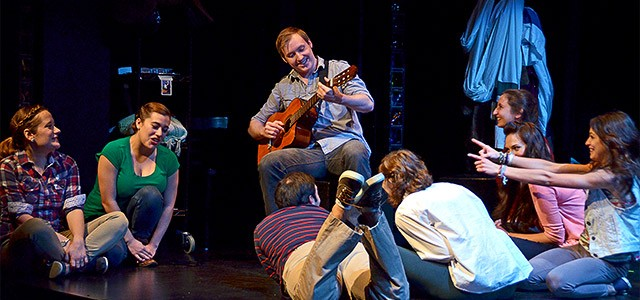 """The cast of """"All Your Questions Answered,"""" now on stage at Geva Theatre Nexstage."""