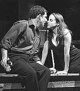 """The coefficient of - attraction at work: Peter Smith as Hal and Maria Dizzia as Catherine in Geva - Theatre's production of """"Proof."""""""