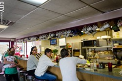 The counter at Jim's Restaurant. - PHOTO BY MARK CHAMBERLIN
