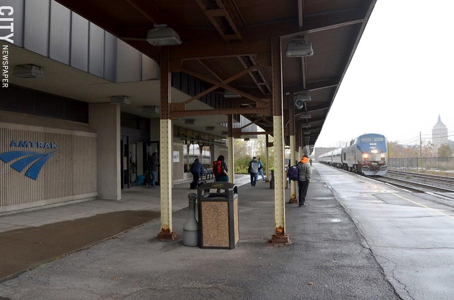 The current Amtrak station platform. - PHOTO BY MATT DETURCK