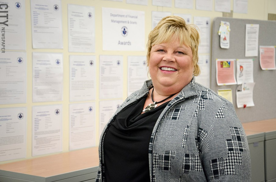 The district looks for grants that align with the superintendent's priorities, says Karen Jacobs, RCSD's director of financial management. - PHOTO BY MARK CHAMBERLIN