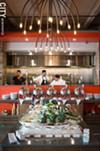 The Gourmet salad bar at Espada, and the Chefs