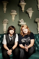 PHOTO BY JEREMY COWART - The Indigo Girls — Amy Ray and Emily Saliers — are seasoned songwriters and musicians who have sold more than 12 million records since debuting in the 1980's. The politically charged duo performs this weekend as part of the Greentopia Music series.