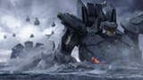 "PHOTO COURTESY LEGENDARY PICTURES - The monster-fighting ""Jaeger"" robots in ""Pacific Rim."""