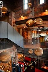 PHOTO BY MATT DETURCK - The multilevel dining room at TRATA.