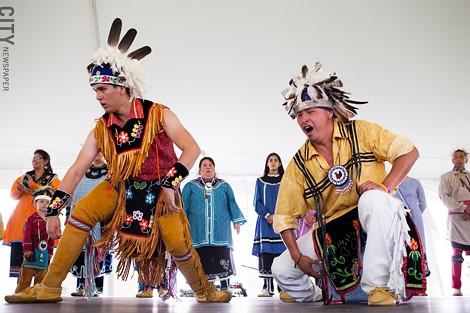 The Native American Music and Dance Festival at the Ganondagan Historic Site. - PHOTO BY MATT BURKHARTT