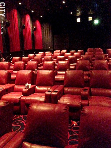 The new recliner seats at AMC Loews Webster. - PHOTO BY MATT DETURCK