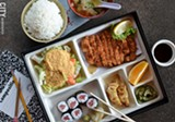 PHOTO BY MATT DETURCK - The pork tonkatsu bento box from Monroe Avenue's Plum Garden is just one of the exotic box-lunch options available in Rochester.