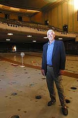 KURT BROWNELL - The promise of things to come: John Parkhurst amidst the Auditorium Theatre renovations.